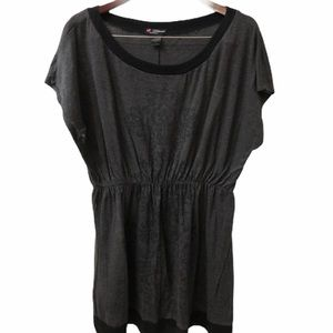 Delicious Blouse Black and Grey Size 3X